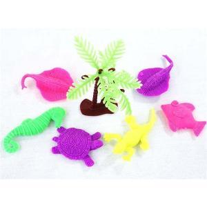 水で膨らむおもちゃ 生き物いっぱい 玩具 セット (25個入) 子ども 景品 お祭り 縁日 おもちゃ 水遊び|nichokichi