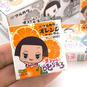 マルカワ オレンジガム チコちゃんに叱られる  (18個入) 駄菓子 景品 くじ引き ガム まとめ買い 詰め合わせ|nichokichi