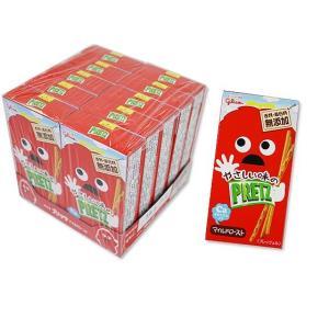 お菓子のまとめ売り・ビスケット系の駄菓子 グリコ やさしい味のプリッツ マイルドロースト (10個入)|nichokichi