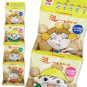 のむら ノンフライ ミレービスケット 4P  (10個入) お菓子 おやつ 4連 個包装|nichokichi