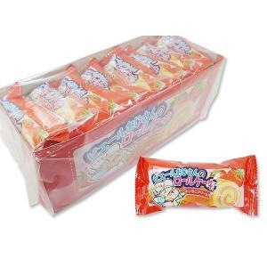【お菓子のまとめ買い・焼菓子のお菓子】やおきん ピエールおじさんのロールケーキ いちごクリーム(24個入)|nichokichi
