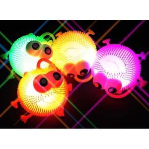 景品玩具のまとめ買い・光る系のおもちゃ 光る フラッシュ ハリネズミ ポンポンボール ヨーヨー ( 12個入り)|nichokichi