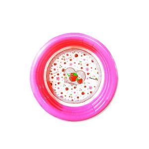 【小物のバラ売り・水遊び系の雑貨】 キッズプール いちごバージョン 100cm nichokichi