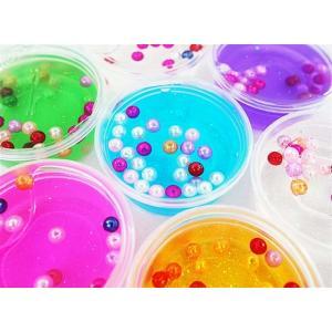 韓国パール入り粘土(24個入) 韓国スライム クリアパテ粘土 玩具 景品 プチギフト|nichokichi