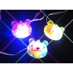 縁日・おもちゃのまとめ買い 光るおもちゃシリーズ アニマルペンダント (25個入)|nichokichi