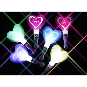 【光るおもちゃのまとめ買い・光り物の玩具】 BIG ハートグリップ (24本入)|nichokichi