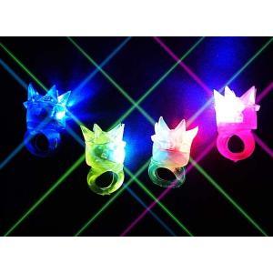 光るおもちゃ 王冠 指輪(36個入)光る リング 光る指輪 ゆびわ 景品 子ども会 子供会 縁日 アクセサリ 不良返品不可|nichokichi