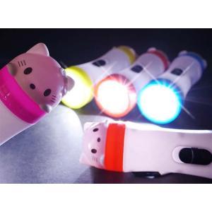光る白猫ライト(24個入)光るおもちゃ 景品 子ども会|nichokichi