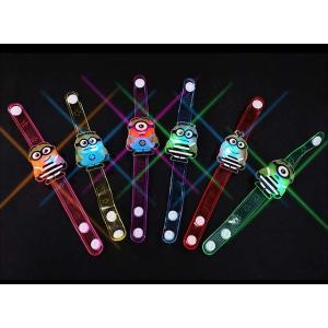 景品玩具まとめ買い・光るおもちゃのまとめ買い ミニオンズ オールスター フラッシュブレスレット(12個入)|nichokichi