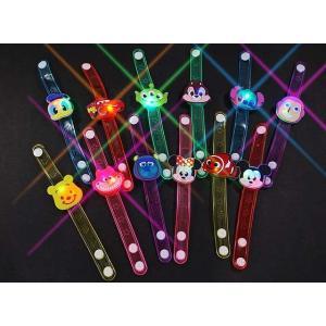 景品玩具まとめ買い・光るおもちゃのまとめ買い ディズニー オールスター フラッシュブレスレット(12個入)|nichokichi