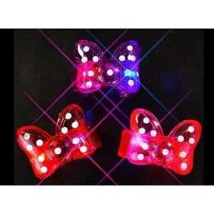 光るおもちゃ 光る 大きな リボンブレス (12個入) 子供会 景品 お祭り くじ引き 縁日 光り物玩具 不良返品不可|nichokichi