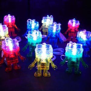 光る ロボット ペンダント ( 24入 )  光るおもちゃ 景品 子ども会 子供会 縁日 ペンダント 不良返品不可|nichokichi