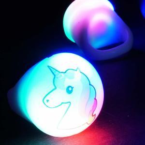 光る ユニコーン 指輪 ( 36入 )  光るおもちゃ 景品 くじ引き 子ども会 不良返品不可|nichokichi