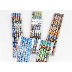 【新入学・卒園祝い景品玩具】ワンピース鉛筆5本セット(25個入り)|nichokichi