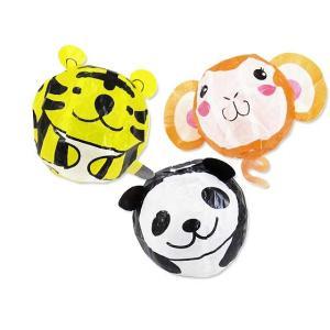 玩具のまとめ買い・エア玩具・紙風船のおもちゃ アニマル紙風船 3種セット 【ぱんだ・トラ・さる】|nichokichi