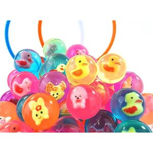 27mm アニマル入 スーパーボール (100個入り)すくい 景品 玩具 おもちゃ 縁日 お祭り イベント おまけ 子供会 nichokichi