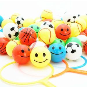 すくってプラボール スポーツ&スマイル (100個入) スーパーボール すくい 景品 玩具 おもちゃ 縁日 お祭り イベント おまけ 子供会|nichokichi