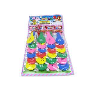 【当てものくじ・景品玩具】ファミリー風船台紙(24付)|nichokichi