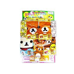 景品玩具のまとめ買い・当てもの台紙系おもちゃ おもしろキャラクター リラックマ台紙当くじおもちゃ(80+4付)|nichokichi