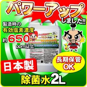 日本製 次亜塩素酸 除菌水(消毒用エタノール IP 手 ポンプ式 エタノール消毒液 の売切れ対策品)とるゾウ2L-6608-2個で送料無料の画像