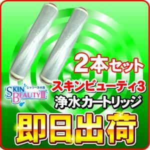 「2本セット」 スキンビューティー3(スキンビューティIII) & JOWER(ジョワー) & MCシャワー(エムシーシャワー) 浄水カートリッジ JS211-K|nickangensuisosui