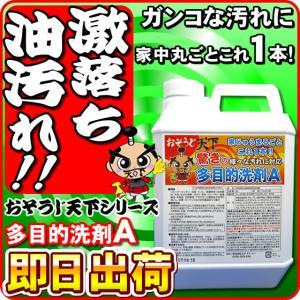 驚異の油汚れに強い洗剤 換気扇 業務用の油汚れ洗剤を家庭用に 強力な油落とし洗剤 頑固な油汚れ洗剤 衣類 作業着にも 多目的洗剤A 2L分の画像