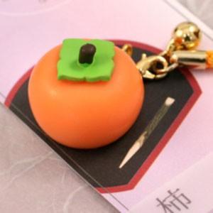 ミニチュア和菓子シリーズ 和菓子根付けストラップ2 柿 AR0501076|nico-marche