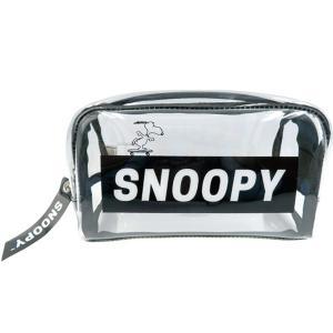 スヌーピー(SNOOPY) BOXペンポーチ 透明スケボーロゴ スヌーピー SPR-919|nico-marche