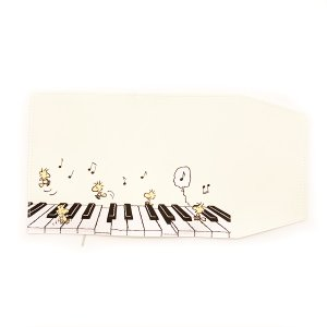 スヌーピー ブックカバー ウッドストックシリーズ ピアノ SPZ-1757|nico-marche