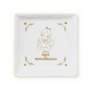 ディズニー 角小皿 アリスインワンダーランド MDAT-003|nico-marche
