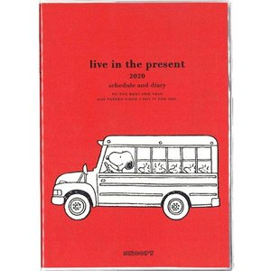 スヌーピー (2019年12月始まり) 2020年 家族手帳 B6 薄型 バス・レッド 605SQC|nico-marche