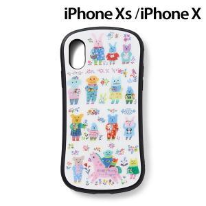 CRAFTHOLIC (クラフトホリック) x YUMI KITAGISHI iPhoneXS iPhoneX (5.8インチ) 専用 ガラスケース party J4724-20|nico-marche