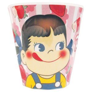 ペコちゃん Wプリントメラミンカップ いちご/アップ PE-5525290UP|nico-marche