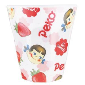 ペコちゃん Wプリントメラミンカップ いちご/チラシ PE-5525291CH|nico-marche