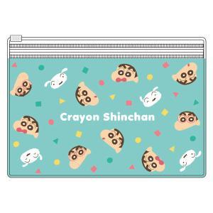 クレヨンしんちゃん 2ポケットクリアポーチ フェイシーズ/パジャマ KS-5533448FP|nico-marche