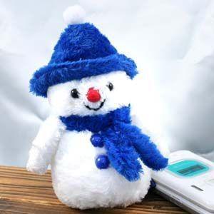 コーヘア雪だるまマスコット ブルー  5076|nico-marche
