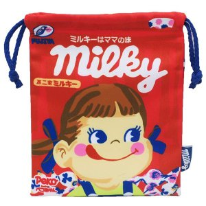 ペコちゃん キャラクター巾着 ミルキー FRK814 nico-marche