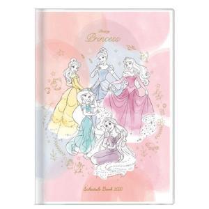 ディズニー (2019年10月始まり) 2020年 スケジュール帳 手帳 月間B6 DC プリンセス ピンク S2949385|nico-marche