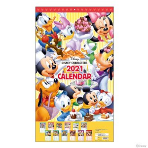 ディズニー 2021年1月始まり ウォールカレンダー/DC ST S8518335|nico-marche