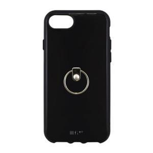 IIIIfi+(イーフィット) リング iPhone8/7/6s/6対応ケース ブラック IFT-18BK nico-marche