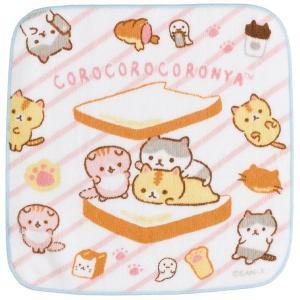 ころころコロニャ ぷらむちゃんがコロニャのパンニャさんにあそびにきたニャテーマ プチタオル CM08812|nico-marche