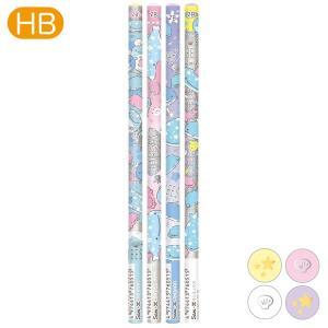 (3) じんべえさん パールいるかとじんべえさんテーマ 鉛筆 (2B) 4本セット PN40601|nico-marche
