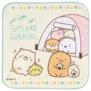 (7) すみっコぐらし かわうそとすみっコキャンプテーマ プチタオル テント CM28704|nico-marche