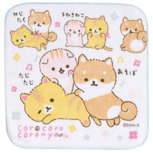 (7) ころころコロニャ 柴犬のこまめちゃんとおもてニャしテーマ プチタオル CM28709|nico-marche