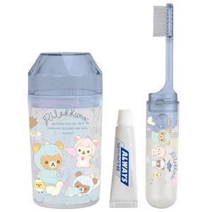 (8) リラックマ リラックマのきょうりゅうごっこテーマ キャラミックス ケアアイテム 歯ブラシセット (ダイカットフタ) FE29001|nico-marche