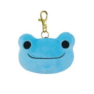 かえるのピクルス リール付きキーマスコット ブルー 600-2994|nico-marche
