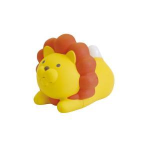 ライオンのおしゃべり温湿度計 イエロー EX-2984|nico-marche
