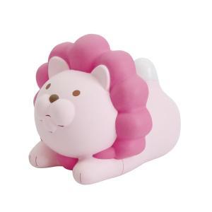 ライオンのおしゃべり温湿度計 ピンク EX-2985|nico-marche