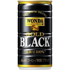 アサヒ飲料 ワンダ ゴールドブラック (185g 缶 30本)|nico25