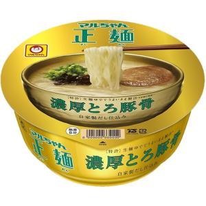 マルちゃん正麺 カップ 濃厚とろ豚骨 (97g カップ 12個)|nico25